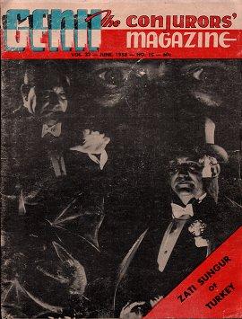 1958 Haziran'ı: Zati Sungur Dünyanın En Ünlü Sihirbazlık Dergisinin Kapağında