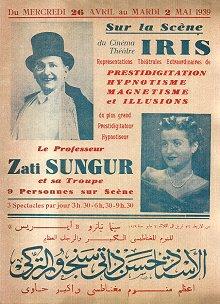 Egypt: 1939 Mısır Turnesinden Bir Afiş