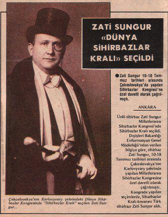 """""""Kral Magiales"""" Ünvanını Kazandığında Dışişleri Bakanlığı Kanalıyla Anadolu Ajansı Gazetelere Haber Geçmişti.."""