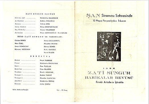 Şan Sineması Gösterileri: İstanbul - 1956